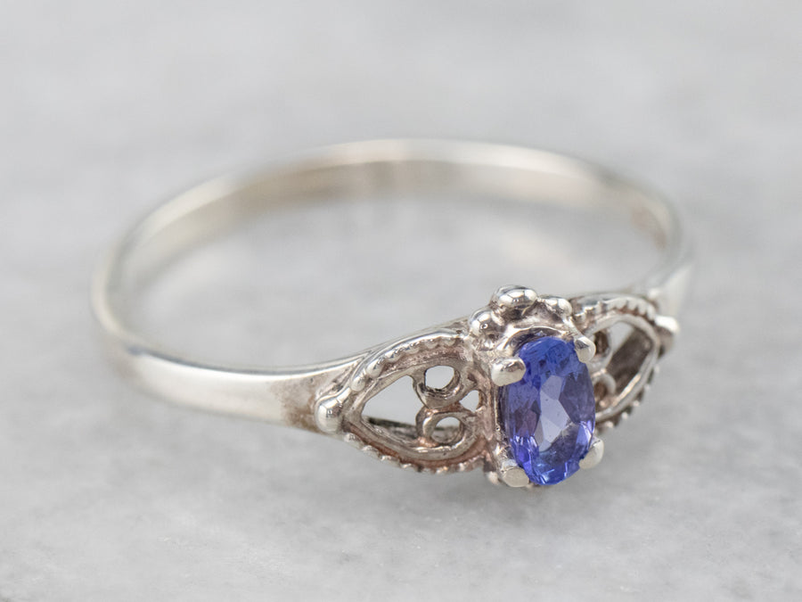 Sterling Silver Sweetheart Tanzanite Ring