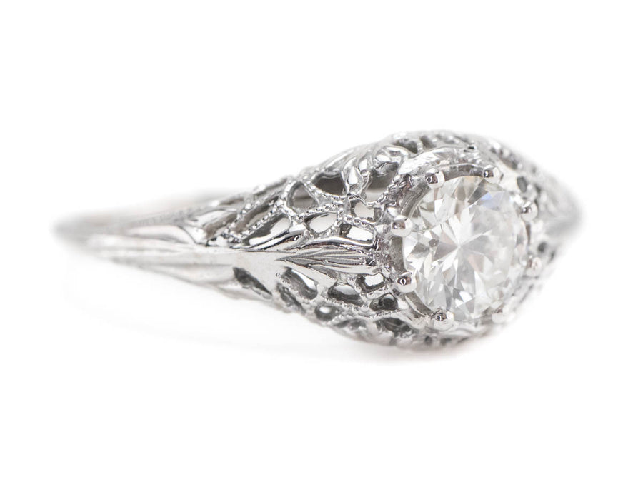 The Marcy Diamond Solitaire Ring from The Elizabeth Henry Collection