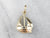 14K Gold Sailboat Charm or Pendant