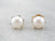Pearl Gold Fill Stud Earrings