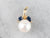 Pearl Sapphire Botanical Gold Pendant