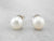 Pearl White Gold Stud Earrings