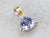 Gold Trillion Cut Tanzanite Pendant