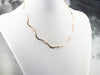 Wavy 14K Yellow Gold Link Necklace