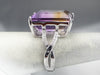 Ametrine Diamond White Gold Cocktail Ring