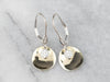 Meira T. Diamond Gold Disk Drop Earrings
