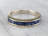 French Cut Sapphire White Gold Channel Set Band