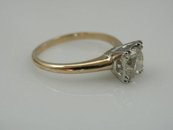 Classic Illusion Set Engagement Ring with Champagne Diamond