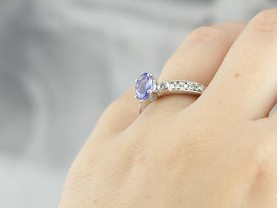 Modern Tanzanite Ladies Ring