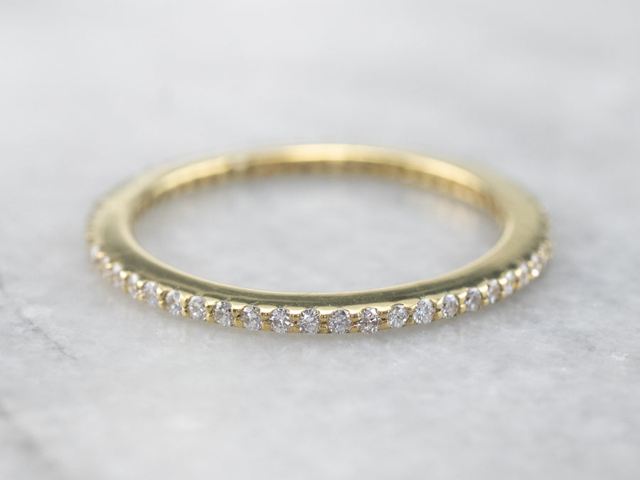 Thin Gold Diamond Eternity Band