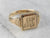 "Victorian ""ML"" Ornate Gold Signet Ring"