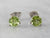 Peridot White Gold Stud Earrings