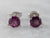 Round Pink Tourmaline White Gold Stud Earrings