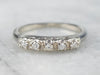 Five Diamond White Gold Wedding Band