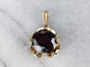 Garnet Buttercup Yellow Gold Pendant