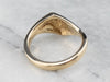 Modernist Tapered 14K Gold Band Ring