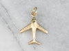 Vintage 14K Gold Airplane Charm