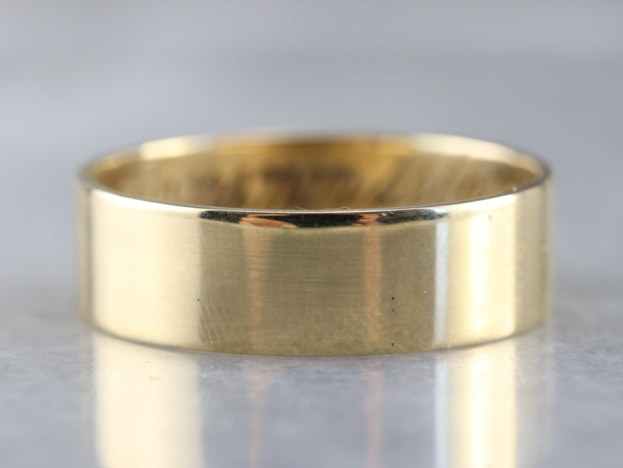 Metal: 10K Yellow Gold  Width of Band: 6.6 mm Height off Fin...