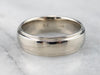 Unisex 14 Karat White Gold Wedding Band