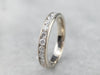 Milgrain Edge White Gold Diamond Band