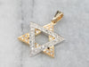 Diamond Two Tone Gold Star of David Pendant