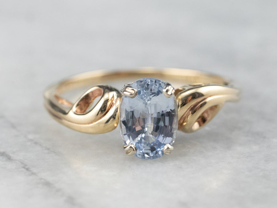 Vintage Sapphire Solitaire Ring