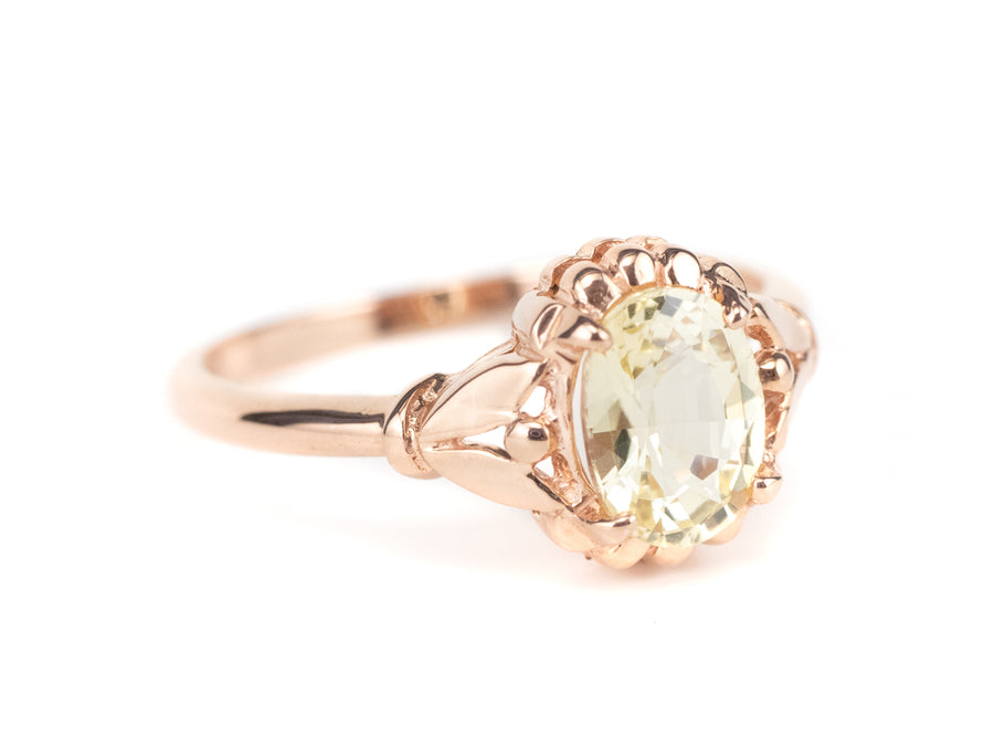 Abigail Yellow Sapphire Rose Gold Ring by Elizabeth Henry
