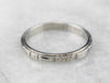 Art Deco Floral 18K White Gold Wedding Band