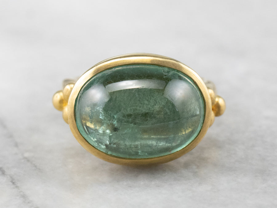 Maija Neimanis Green Tourmaline East to West Gold Ring