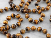 Tiger's Eye Gold Beaded Necklace