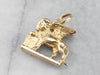 18K Gold Winged Lion of Saint Mark Charm Pendant