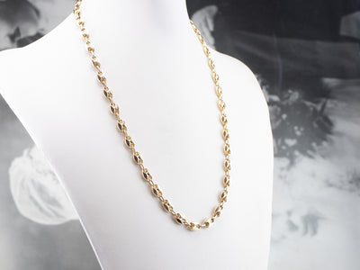 14K Gold Chunky Anchor Chain Necklace