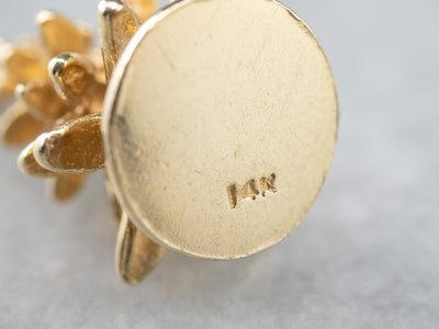 14K Gold Evergreen Tree Charm