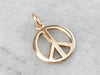 14K Gold Peace Sign Charm Pendant