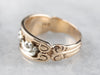 Ornate Two Tone Gold Patterned Band