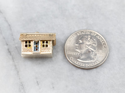Vintage Enamel and Gold House Charm