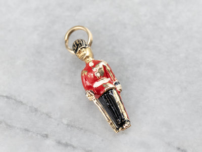 The Queen's Guard Gold and Enamel Charm