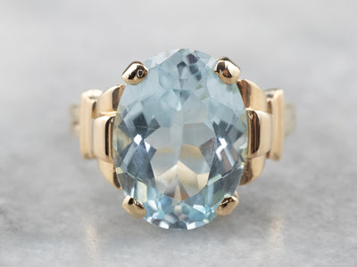 Vintage Blue Topaz Cocktail Ring