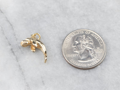 Yellow Gold Manatee Charm or Pendant
