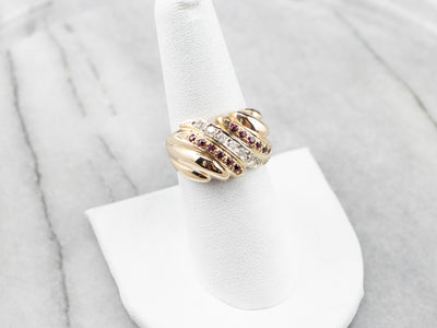 Vintage Ruby and Diamond Statement Ring