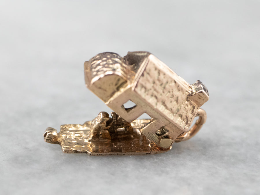 Vintage Rose Gold House Charm