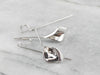 White Gold Calla Lily Drop Earrings