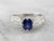 Sapphire Diamond White Gold Engagement Ring