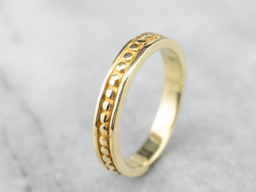 Vintage 18K Yellow Gold Pattern Band