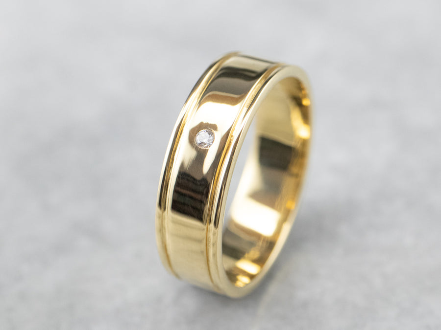 Gypsy Set Diamond 18K Gold Band