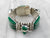 Chunky Carved Green Onyx Silver Statement Bracelet