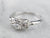 Late Art Deco Diamond White Gold Ring