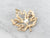 Vintage Gold and Pearl Maple Leaf Brooch