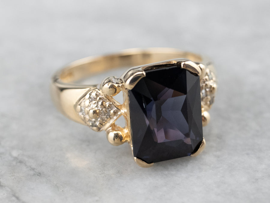 Spinel Diamond Gold Statement Ring