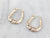 Vintage Gold Tapered Hoop Earrings
